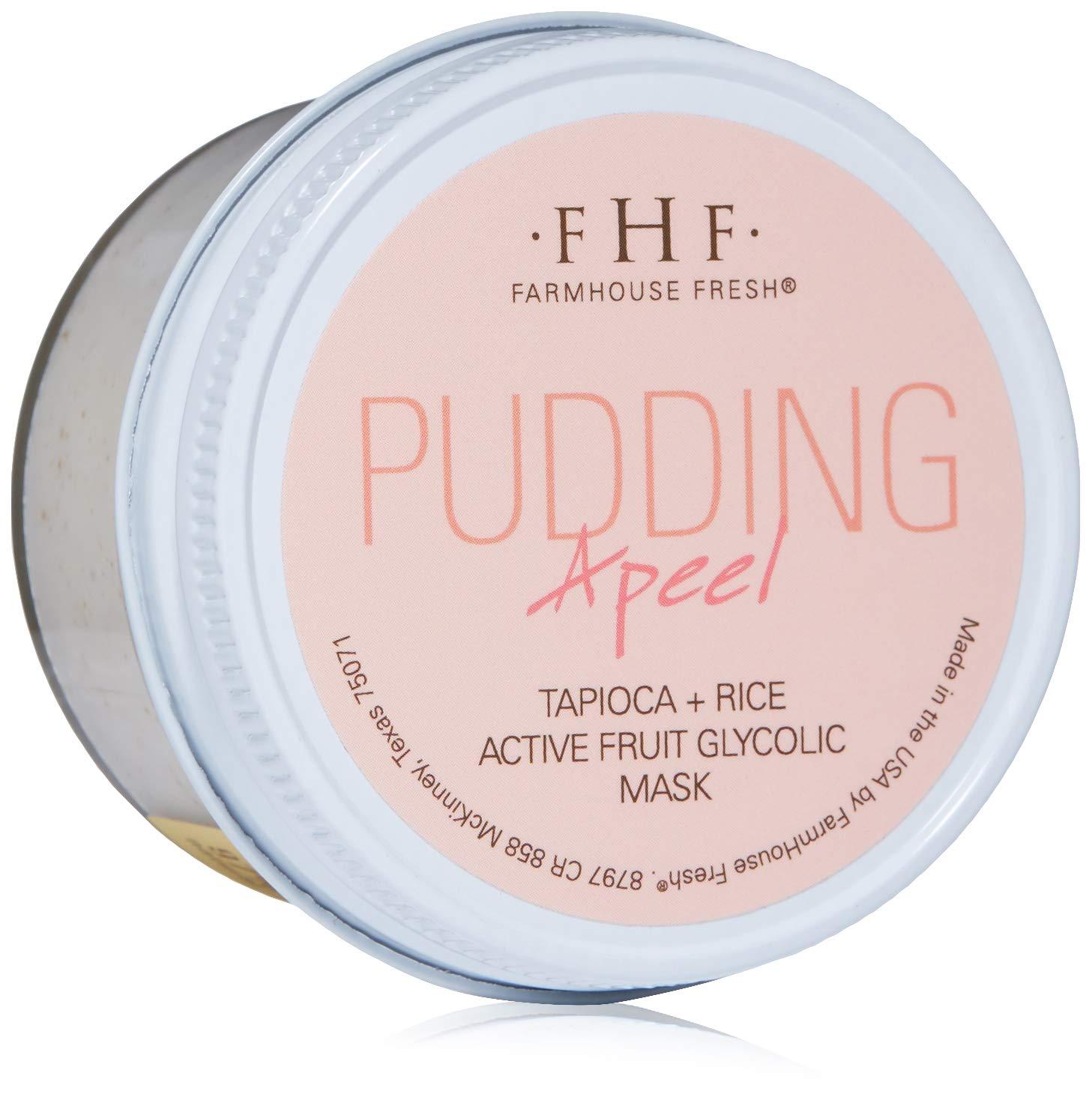 FarmHouse Fresh Pudding Apeel Tapioca Rice Active Fruit Glycolic Mask, 3.2 Fl Oz