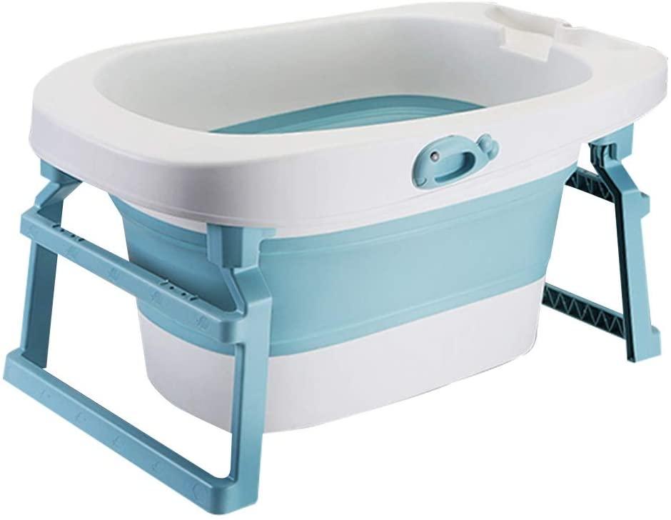 Jiu Si- Bathtub-Baby Tub Children Bathing Bucket Baby Tub Folding Bath Barrel Large Bath Barrel Newborn Swimming Home Bathtub (Color : A)