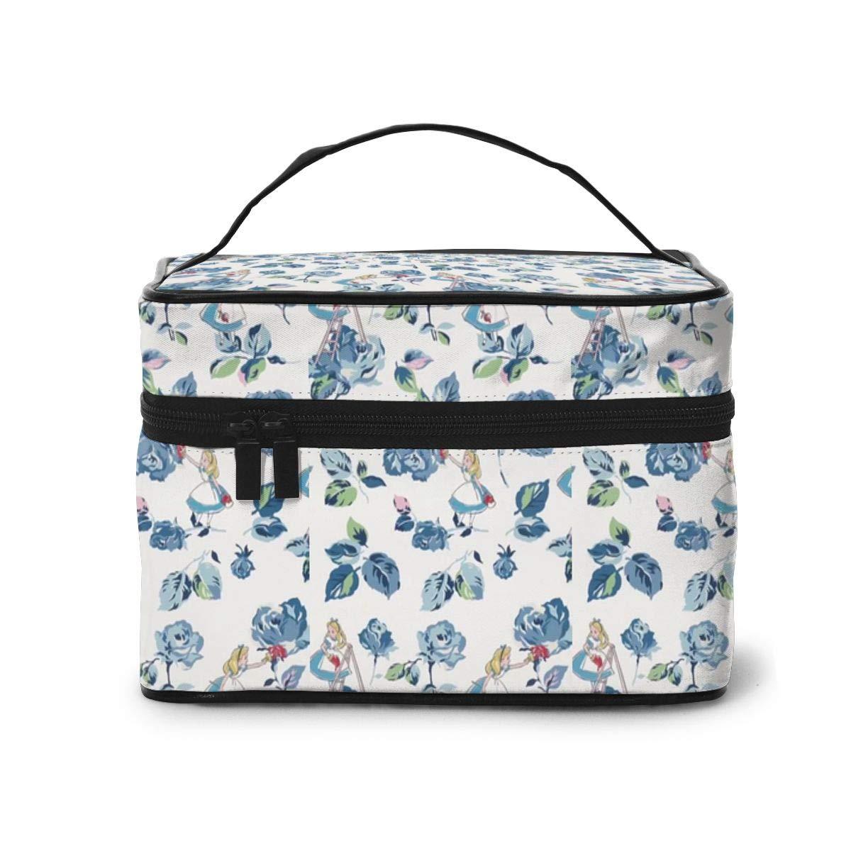 Makeup Bag, Alice Princess Travel Portable Cosmetic Bag Large Pouch Mesh Brush Organizer Toiletry Bag for Women Girls