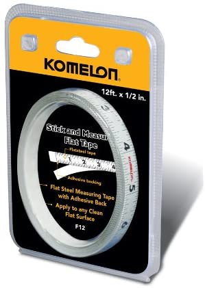 Komelon F12 12-Foot Stick and Measure Flat Tape Measure