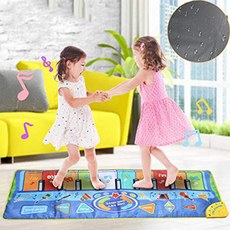 Emma Children's Multi Functional Piano Music Blanket Baby Environmental Dancing Pad Educational Toy Rug 130x48cm Green