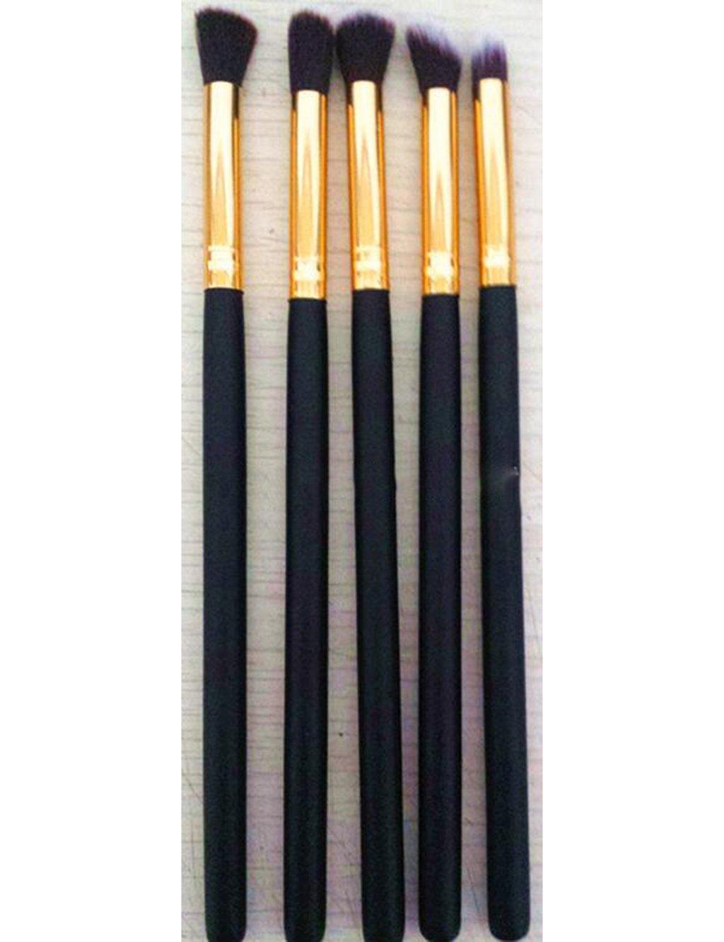 Five brushes gold powder paint black specular brush brush painting beauty makeup kit