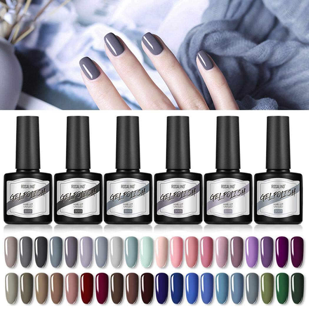 LEANO 40 Colors Fashion Nail Art Polish 8ML Matte Effect Manicure Polish Gel Nail Polish