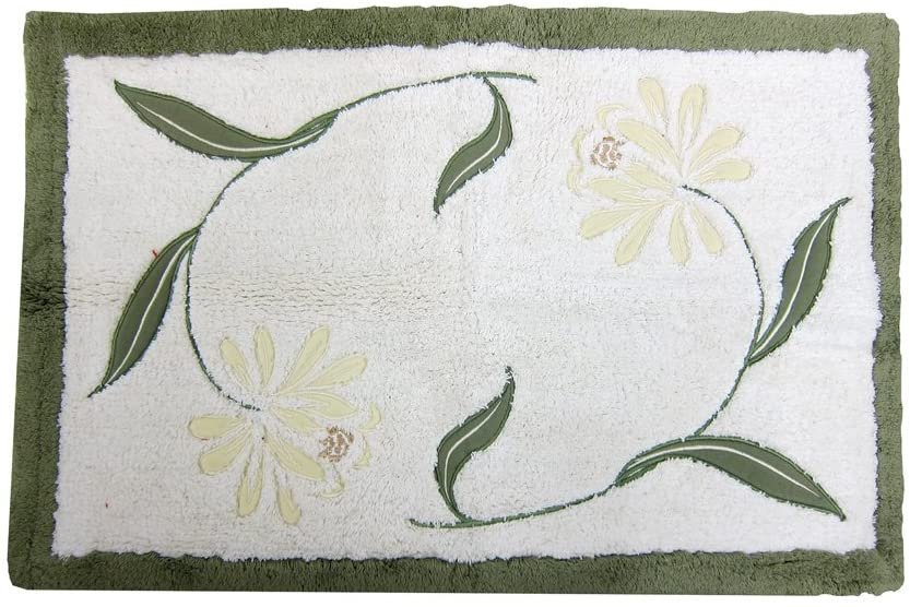 Croscill Penelope Rectangular Bath Rug, 30 by 20-Inch