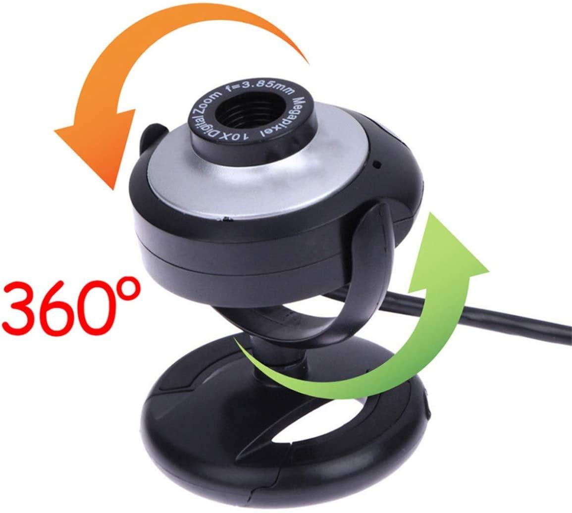 TUFF LUV Essentials USB 2.0 360 Swivel Webcam & Screen Secure Clip for Skype, FaceTime, WebEx, Teams etc