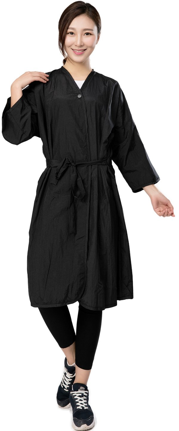 Salon Client Gown Robes Cape, Hair Salon Smock for Clients- Kimono Style, with Snap Closure