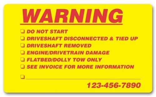 Customized Warning Company Labels