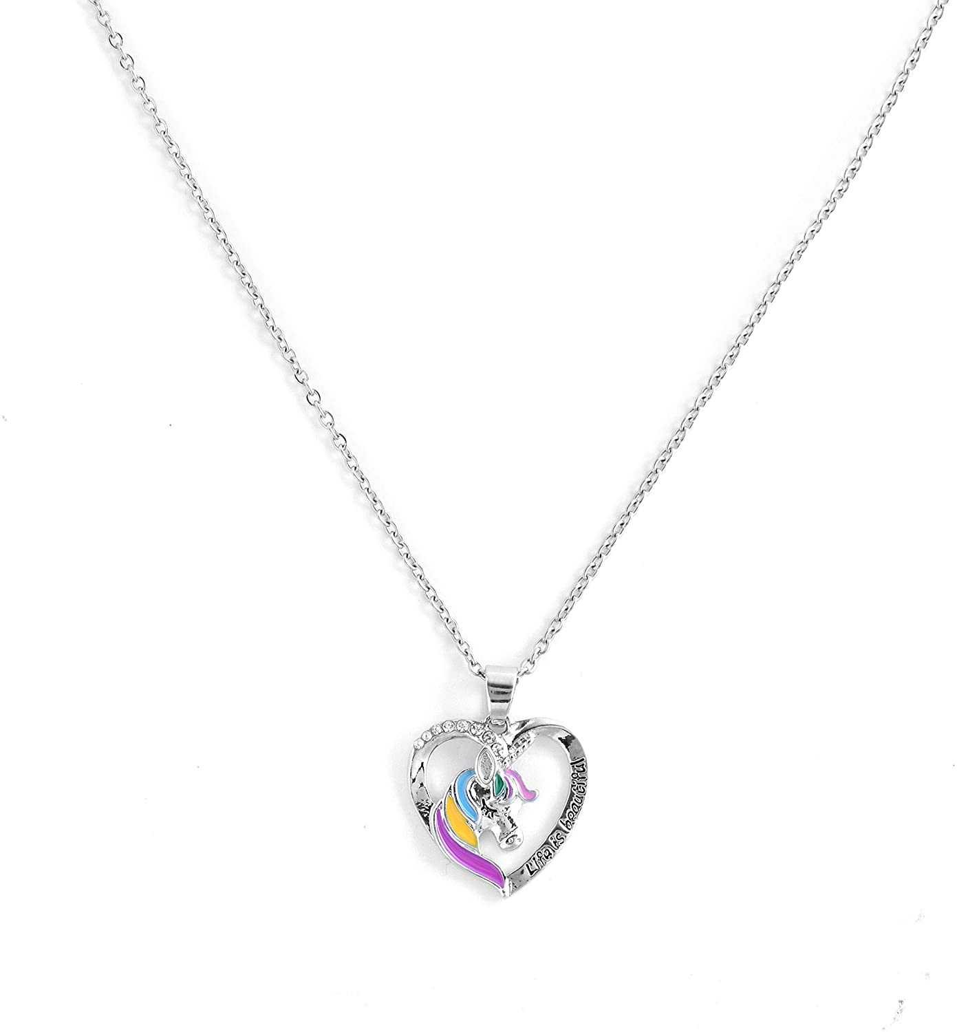 YOUBT Sterling Silver Kids Unicorn Pendant Necklace Party Favors for Girls