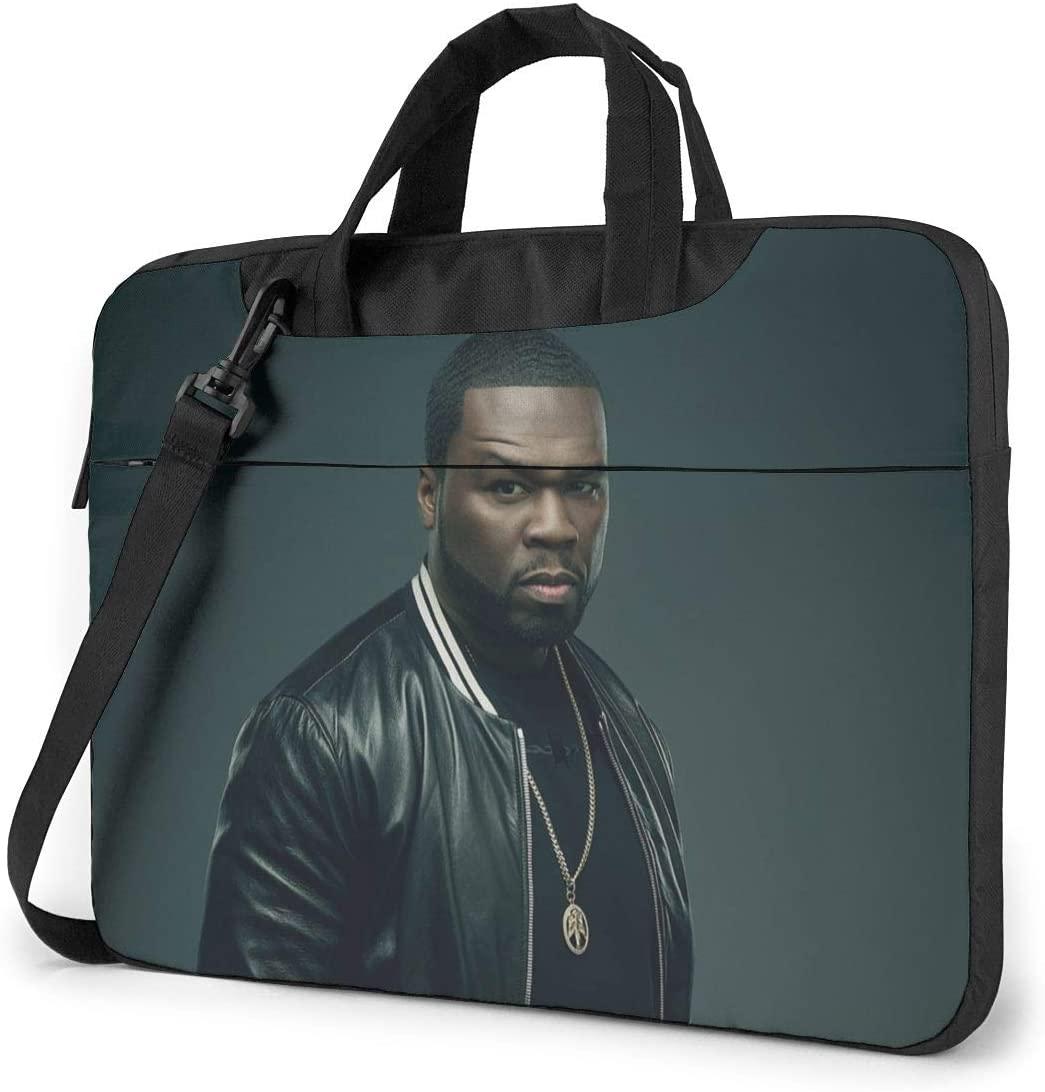 N/C 50 Cent Waterproof Laptop Shoulder Messenger Bag, Computer Protective Case, Briefcase, Unisex, Exquisite Style.15.6 Inch