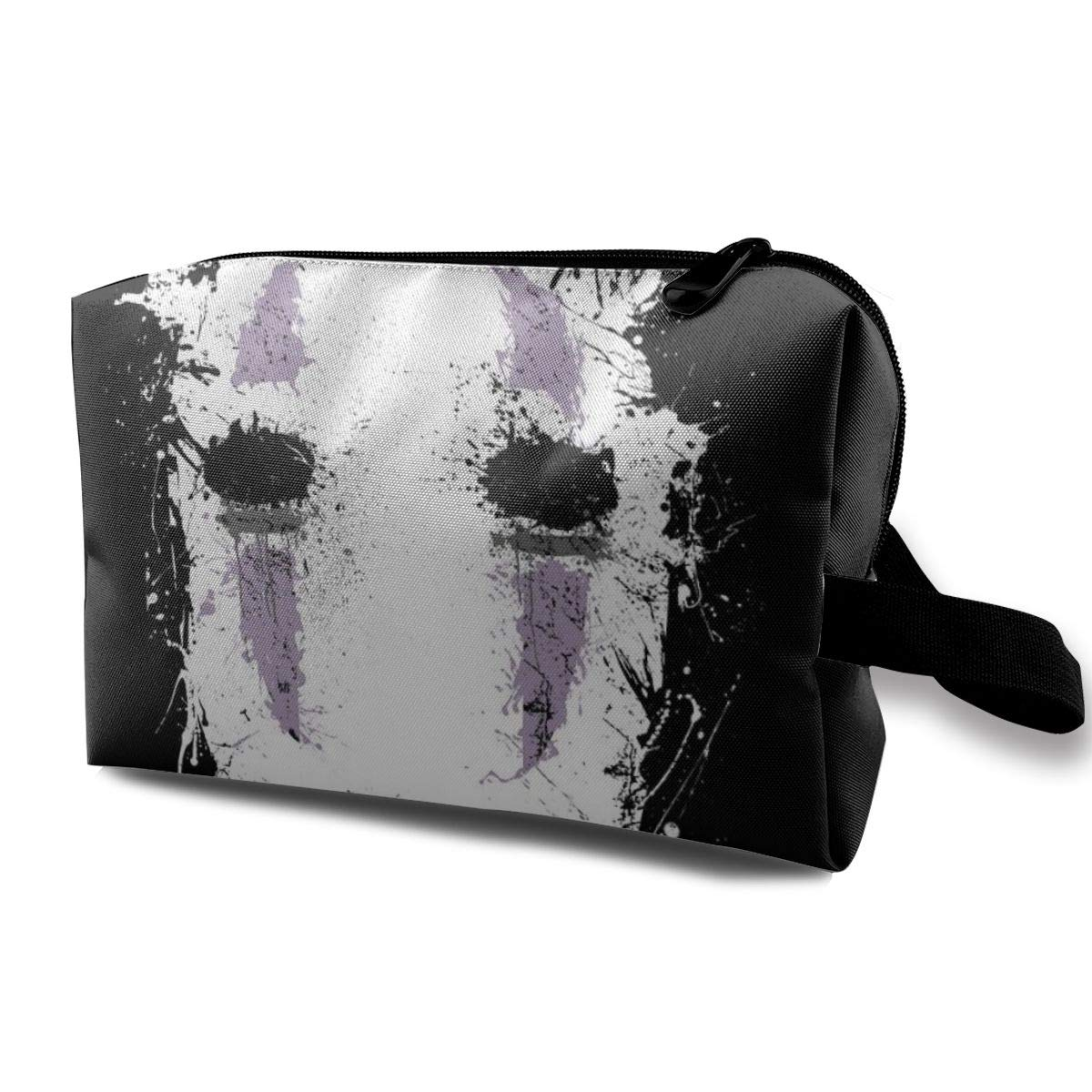 Makeup Bag Cosmetic Pouch Spirited Away Ink No Face Multi-Functional Bag Travel Kit Storage Bag