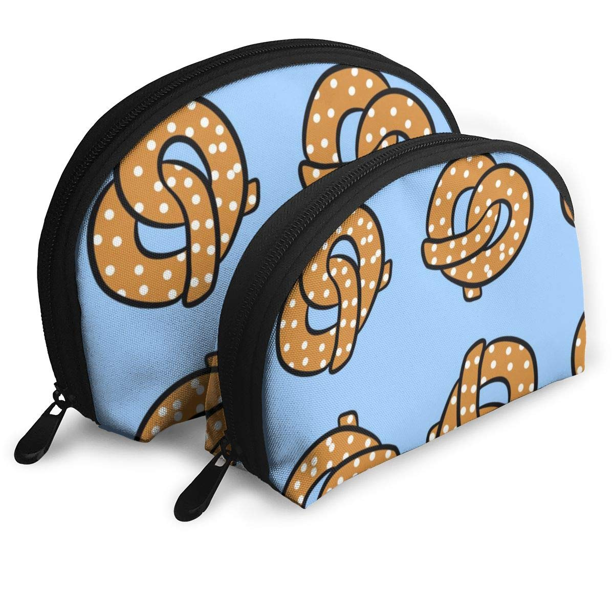 Half Moon Cosmetic Beauty Bag,Pretzel Handy Cosmetic Pouch Clutch Makeup Bag For Women Girls