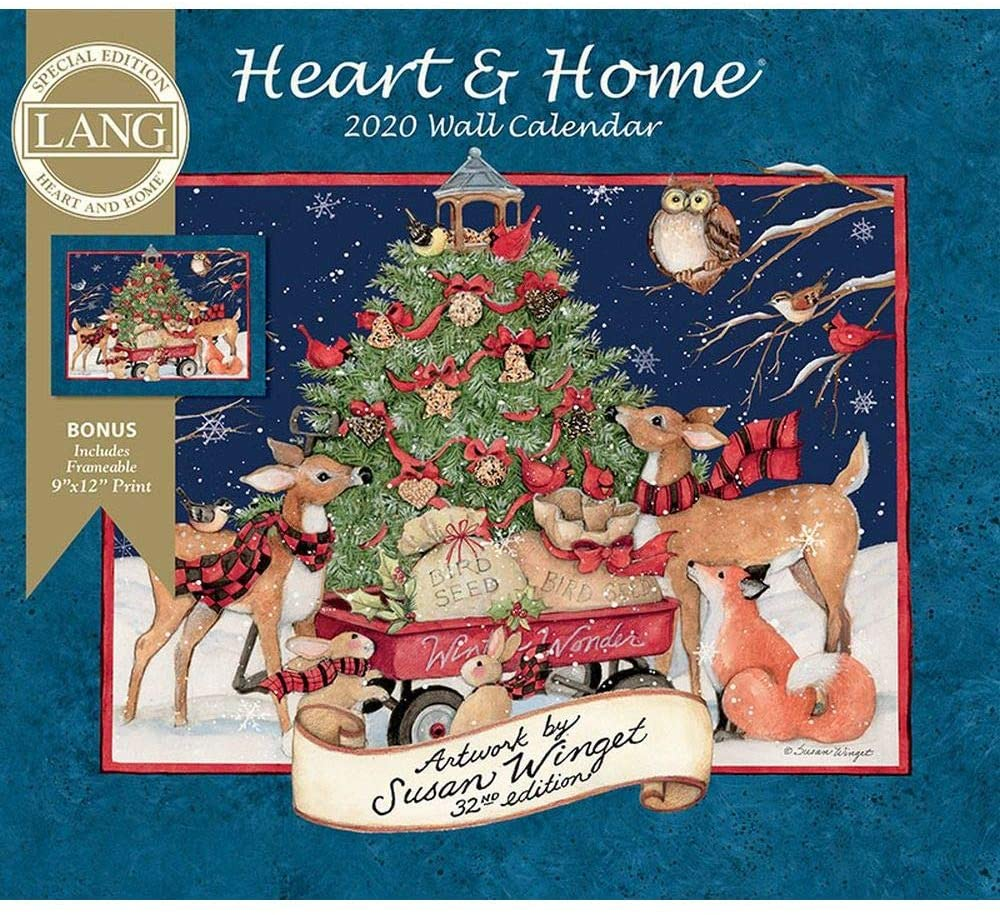 2020 Heart & Home Special Edition Wall Calendar, by Lang Companies