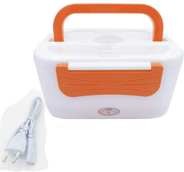 Aceyyk Electric Heating Lunch Box, Portable Food Heater, 12V/110V/220V Warm Lunch Box,Orange,220V