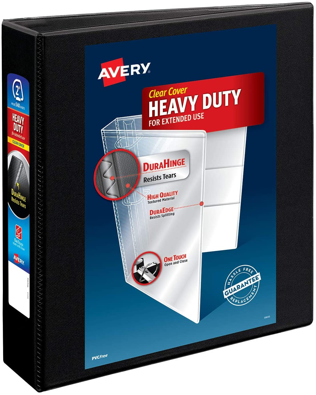 Avery Heavy-Duty View 3 Ring Binder, 2