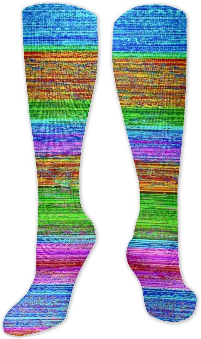 Compression Sock for Women & Men,Adult Zebra and Zebra Cub CasualLongKneeHighTubeSocksforRunnning,SoccerAthleticSports,Travel-50cm