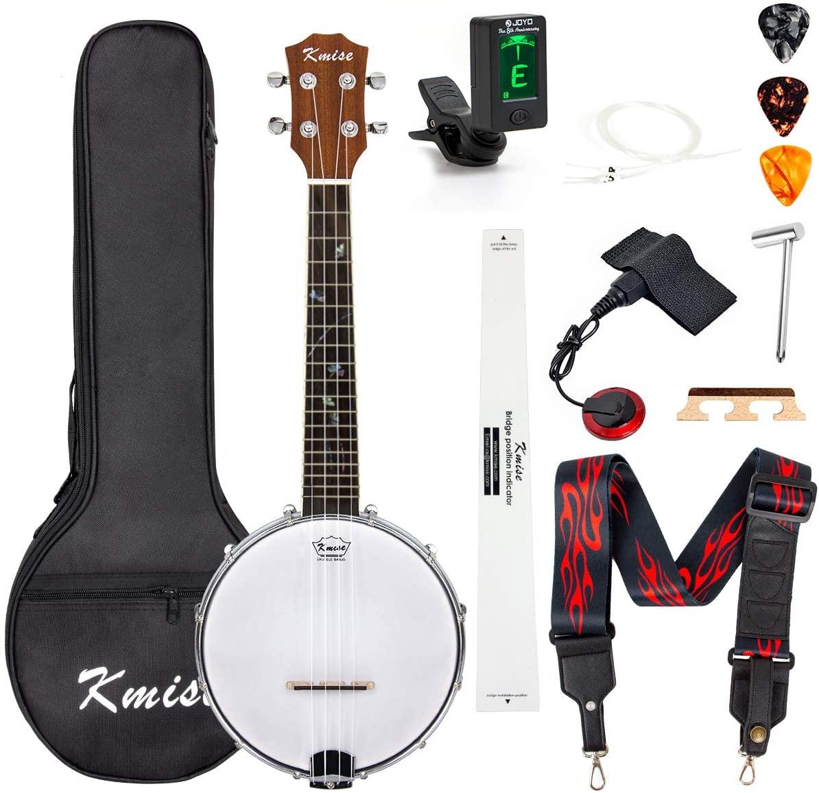 Banjo Ukulele Concert Size 23 Inch With Bag Tuner Strap Strings Pickup Picks Ruler Wrench Bridge