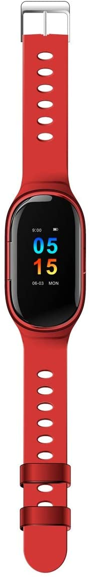 XIAOMING M1 Newest AI Smart Watch with Bluetooth Earphone Heart Rate Monitor Smart Wristband Long Time Standby Sport Watch Men (Color : Red)