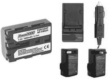 NP-FM55H Battery + Charger for Sony Alpha DSLR-A100, Sony DSLR-A100H, Sony DSLR-A100W/B