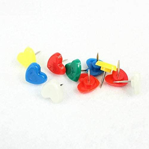 Clips 5000 Pcs Heart Shape Thumb tack Plastic Colored Push Pins Thumbtacks Office School Supplies - (Color: Pink)