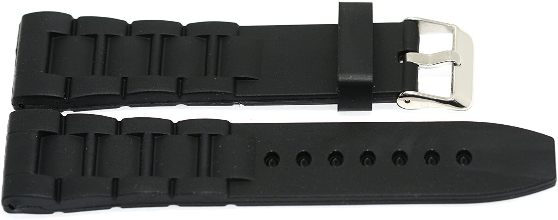Black 26MM Rubber Composite Sport Watch Band Strap FITS Invicta