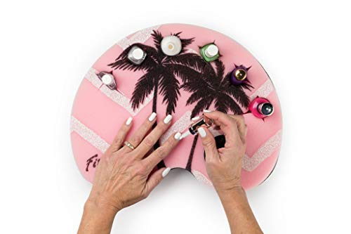 FingerSpills -Nail Polish Holder, Manicure Station, Polish Organizer (Design: JUST ANOTHER DAY IN PARADISE!) Packaged with a Cute Emery Board. Great for Manicures, Pedicures and Nail Art!