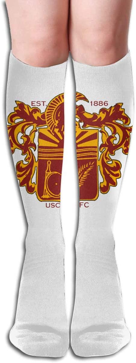 USC Men's/Women's Comfortable Casual Funny Long Knee High Socks Compression Socks Winter Warm Soccer Socks