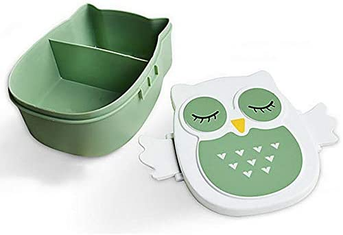 Lunch Boxes - Hoomall 900ml Cute Owl Students Lunch Box With Spoon Kids Bento Box Food Container with compartments Dinnerware Case Storage Box - by Parkinson LLC