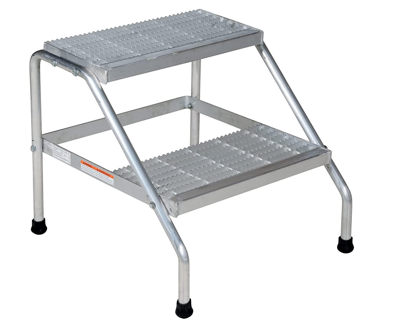 Vestil SSA-2-KD Aluminum Two Step Stand - Knock-Down, 24-9/16