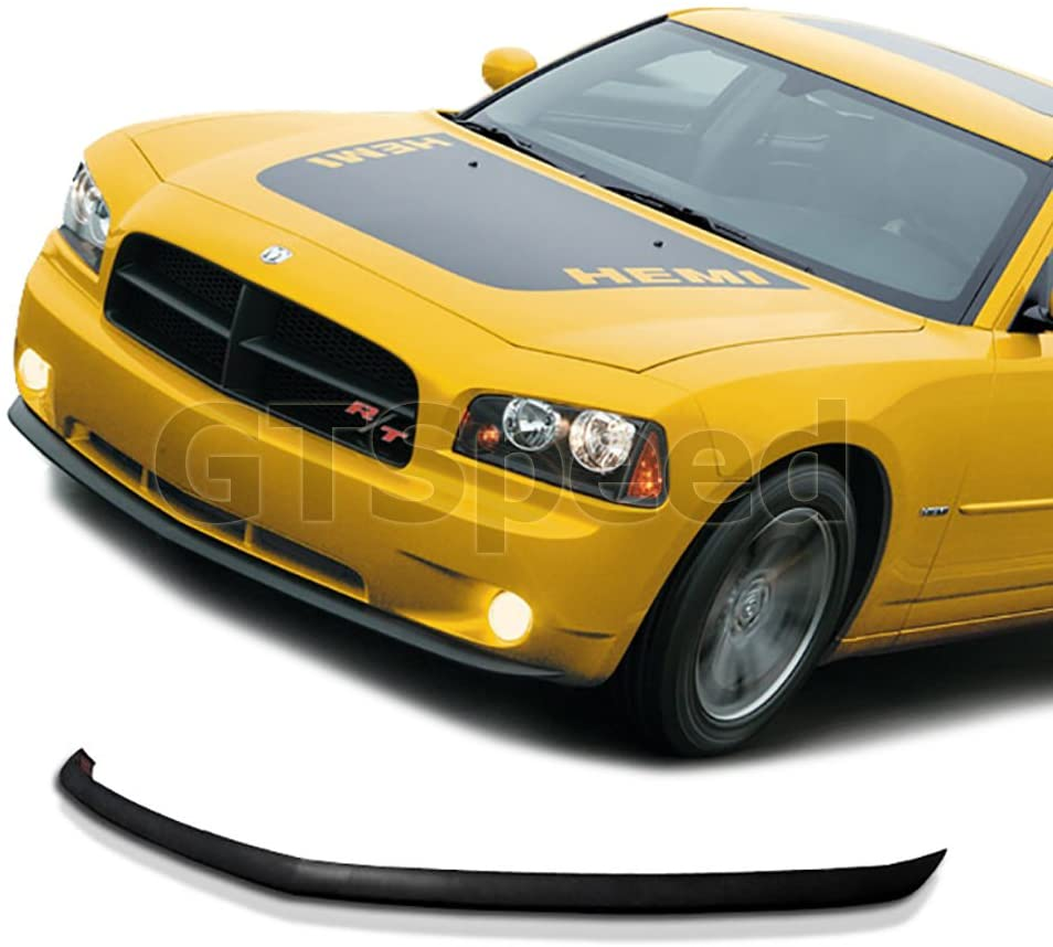 GT-Speed for 2005-2010 Dodge Charger SE/SXT/R/T OE Style Front PU Bumper Lip