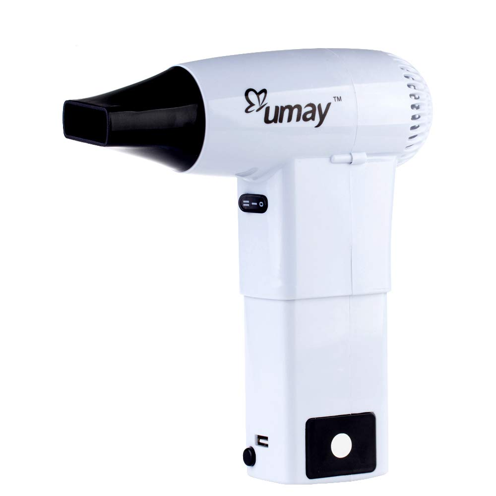 Rechargeable Wireless Hair Dryer with Cold Wind and Hot Wind Assembled Painting Blower Outdoor Travel Camping Tools Lightweight Lithium Battery Hair Dryer