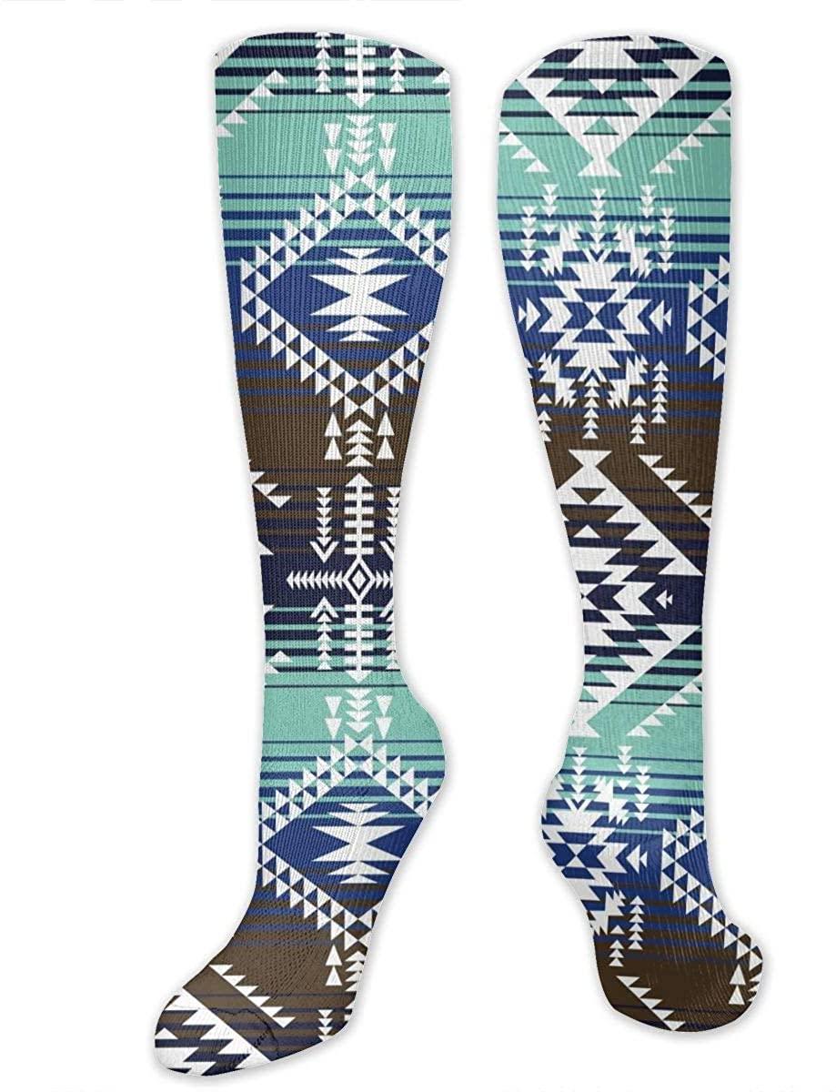 Retro Navajo Tribal Athletic Socks Thigh Stockings Over Knee Leg High Socks