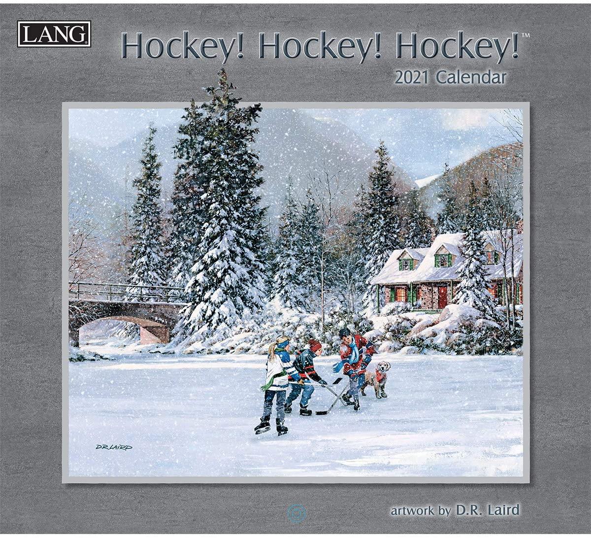 LANG Hockey 2021 Wall Calendar (21991001916)