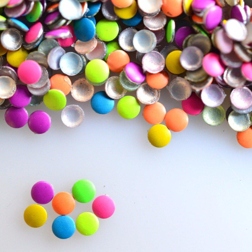 1000pcs/pack 2x2mm Nail Art Round Tiny Rivet Studs for Nails Sticker NEW Mixed Colors Rhinestones