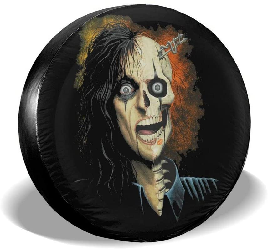 Alice Cooper Spare Tire Gap Trailer Rv Truck 14 15 16 17 Inch Sunscreen Dustproof Dustproof Wheel Cover.
