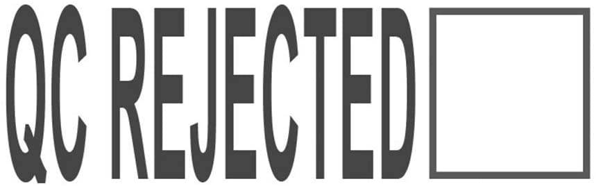 QC Rejected, pre-Inked Office Rubber Stamp (#761527-58BE)