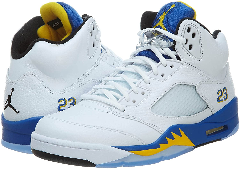 NIKE Mens Air Jordan 5 Retro Laney Leather Basketball-Shoes