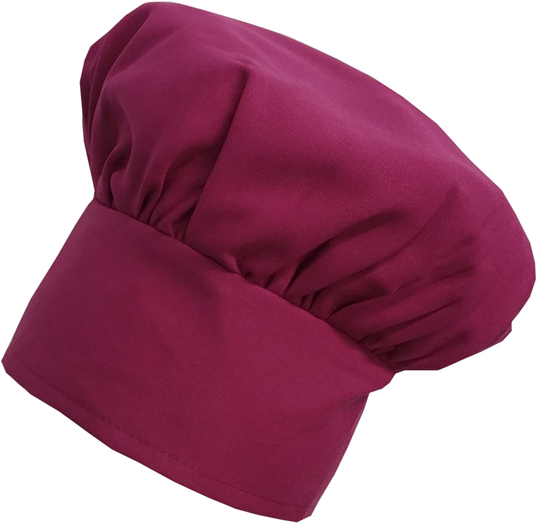 CHEFSKIN Hot Pink Fuchsia Chef Mushroom Hat Adults Adjustable