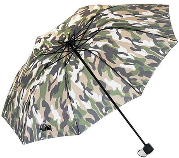 Gentle Meow Green Camouflage Foldable Single Practical Retro Fashion Handmade Umbrella