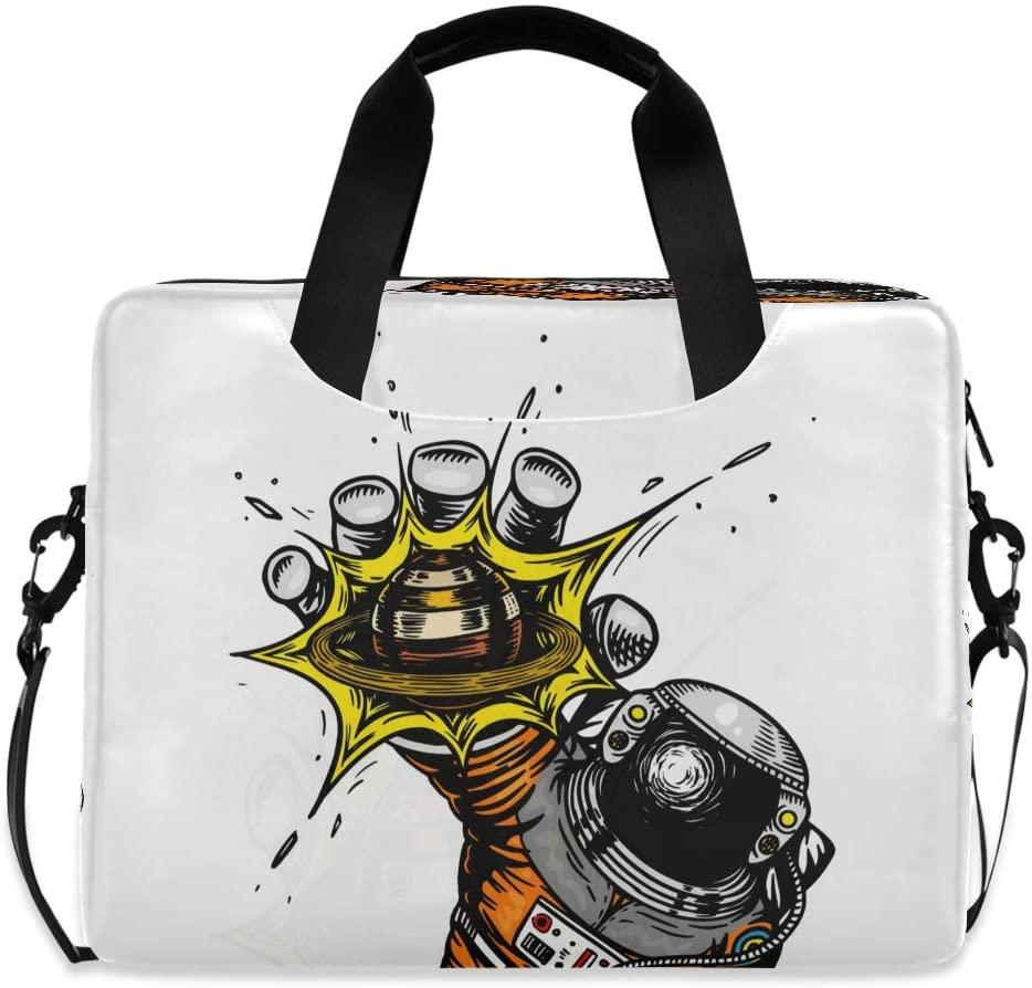 The Astronaut Reaches for Planet Sun Laptop Bag Protective Case Computer Messenger Briefcase Women Men 16