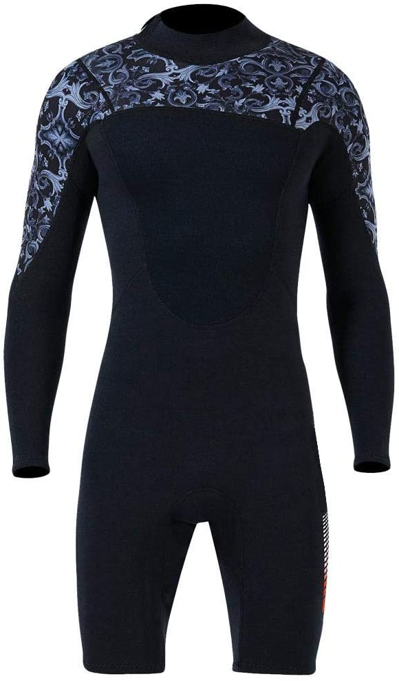 Tbest Swimsuit,Diving Swimsuit,1.5MM Diving One-Piece Swimsuit Wetsuit Short Sleeve for Snorkeling Surfing