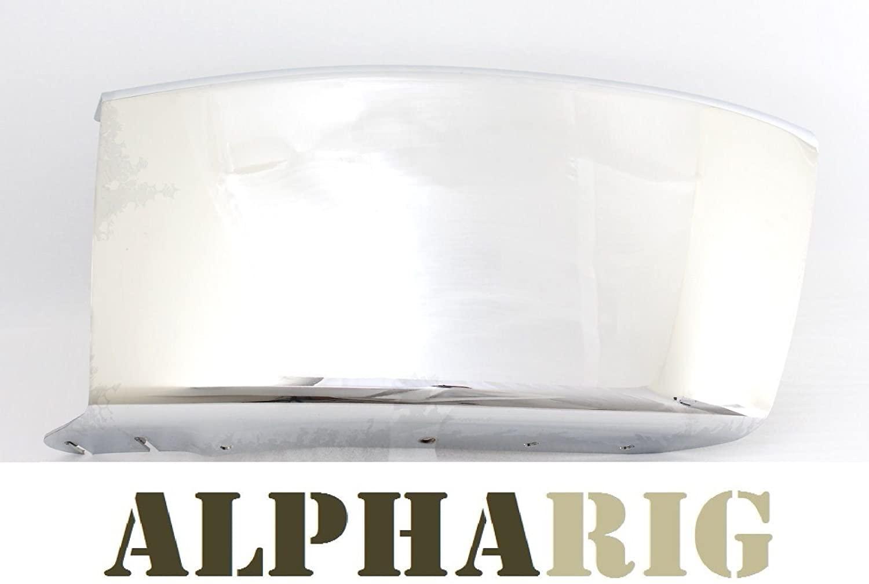 ALPHARIG 03-12 2003-2012 FREIGHTLINER M2 106 FRONT BUMPER END LEFT CHROME 29.92
