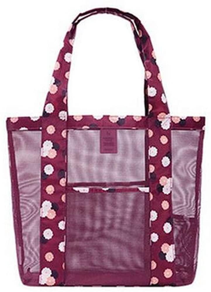 George Jimmy Travel Portable Bath Bag Mesh Swimming Packs Shoulder Bag-Red