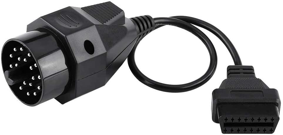 OBD2 Adapter Cable,20 Pin to 16 Pin OBD2 OBD-II Adapter Connector Scanner Diagnostic Convertor Cable for E36 E38 E39 E46 E53 X5 Z3