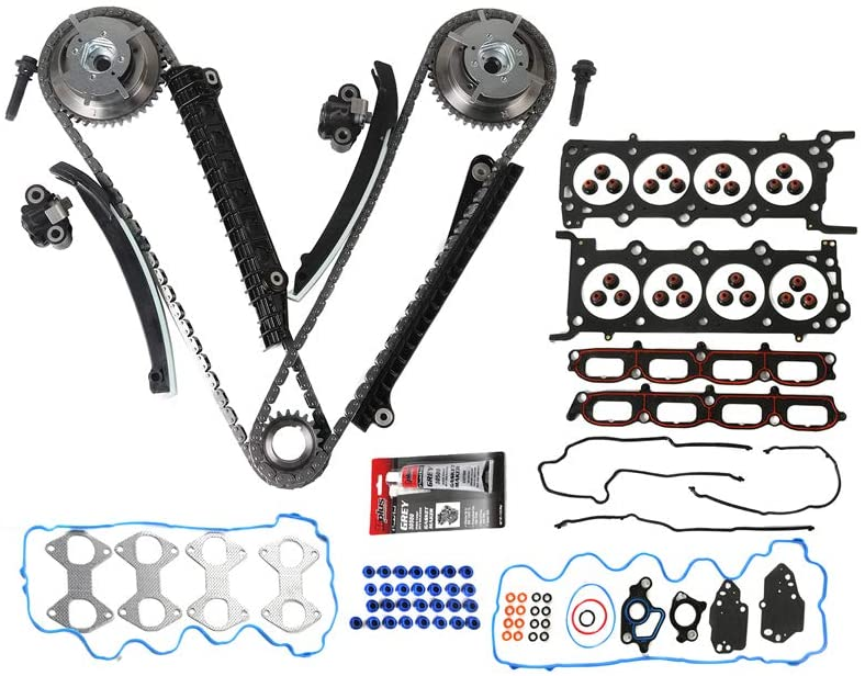 MOCA Timing Chain Kit & Head Gasket Set for 2007 2008 Ford Expedition/F-150/F-250 Super Duty/F-350 Super Duty & Lincoln Navigator 5.4L