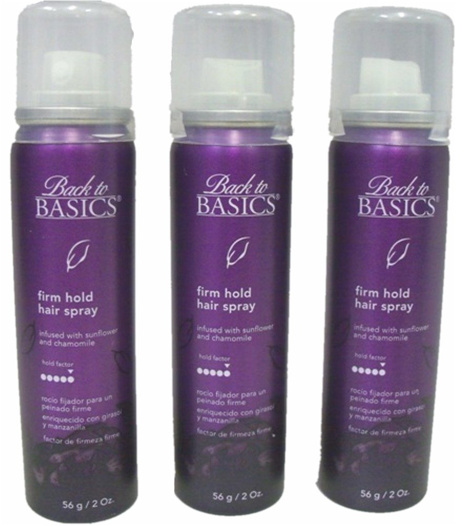 Back to Basics Firm Hold Hair Spray Infused with Sunflower, 2oz (Pack of 3)