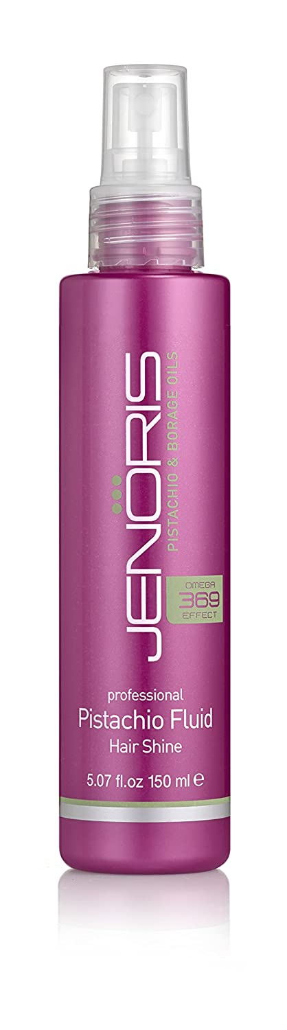 Jenoris Pistachio Fluid - Hair Shine Silicon Hairspray 5.07 fl.oz. Hair care products for women and men; Infused with Pistachio Oil providing moisture and shiny volume throughout the day