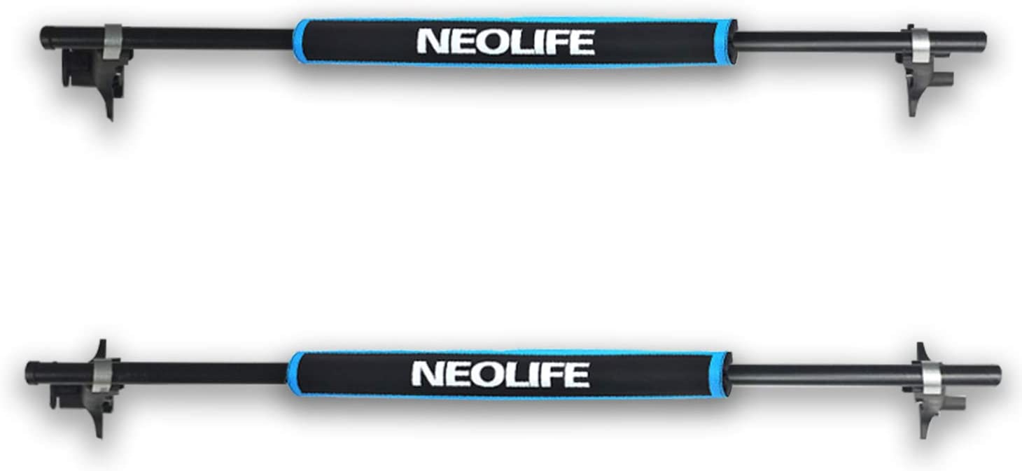Neolife Crossbar Soft Roof Rack Pads for Surfboard, Kayak, Longboard, SUP Paddleboard, Snowboard, 28 inch (Pair)