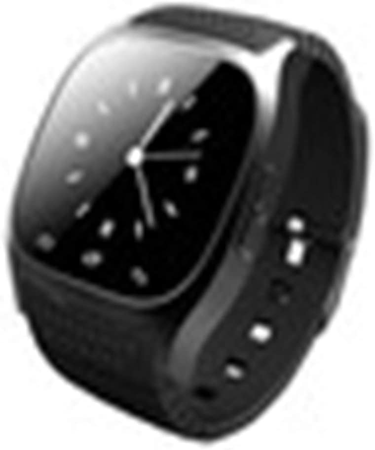 Smart Wrist Bluetooth Watch Phone for iOS iPhone Samsung Intelligent Fashion Watches (Black)