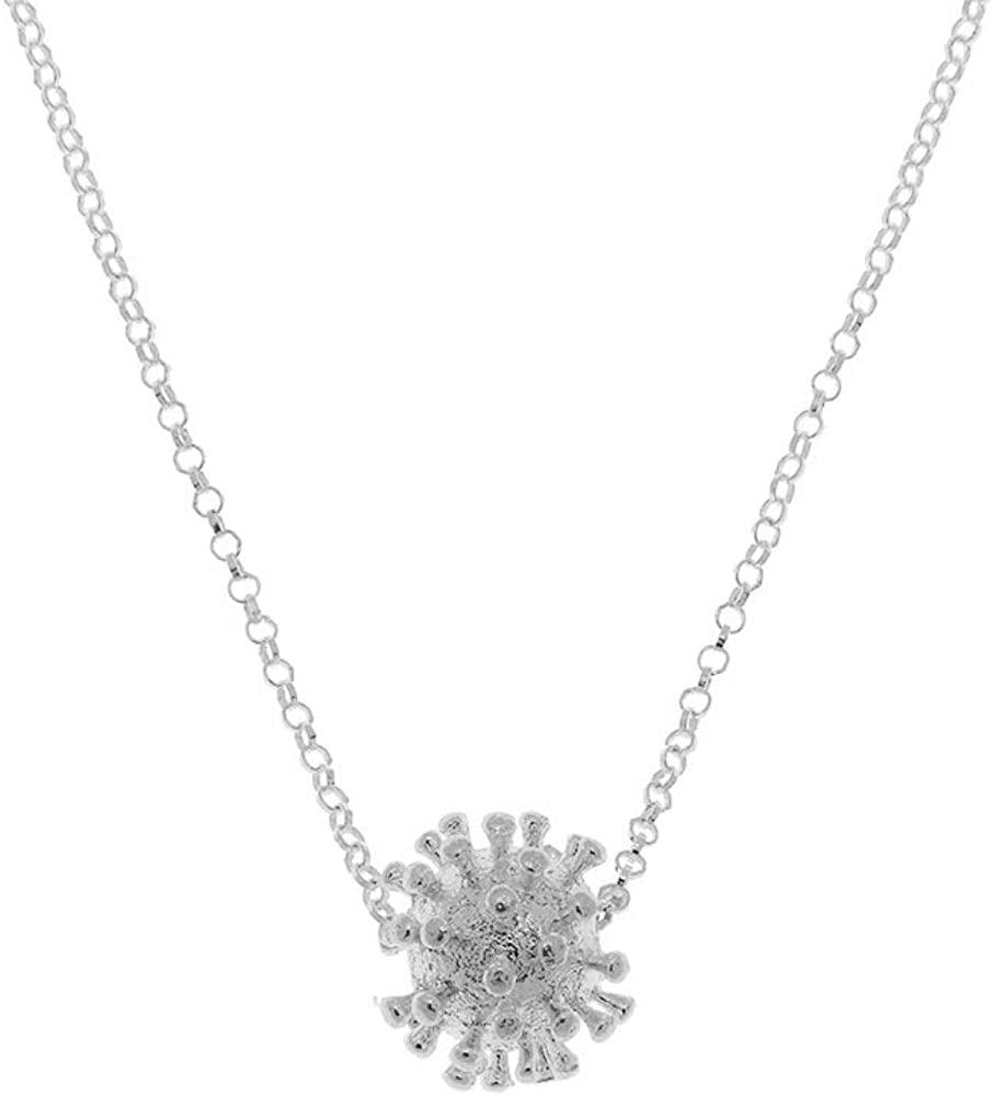 Coronavirus Necklace Pendant- Crown Necklace-Corona Necklace-COVID-19 Necklace