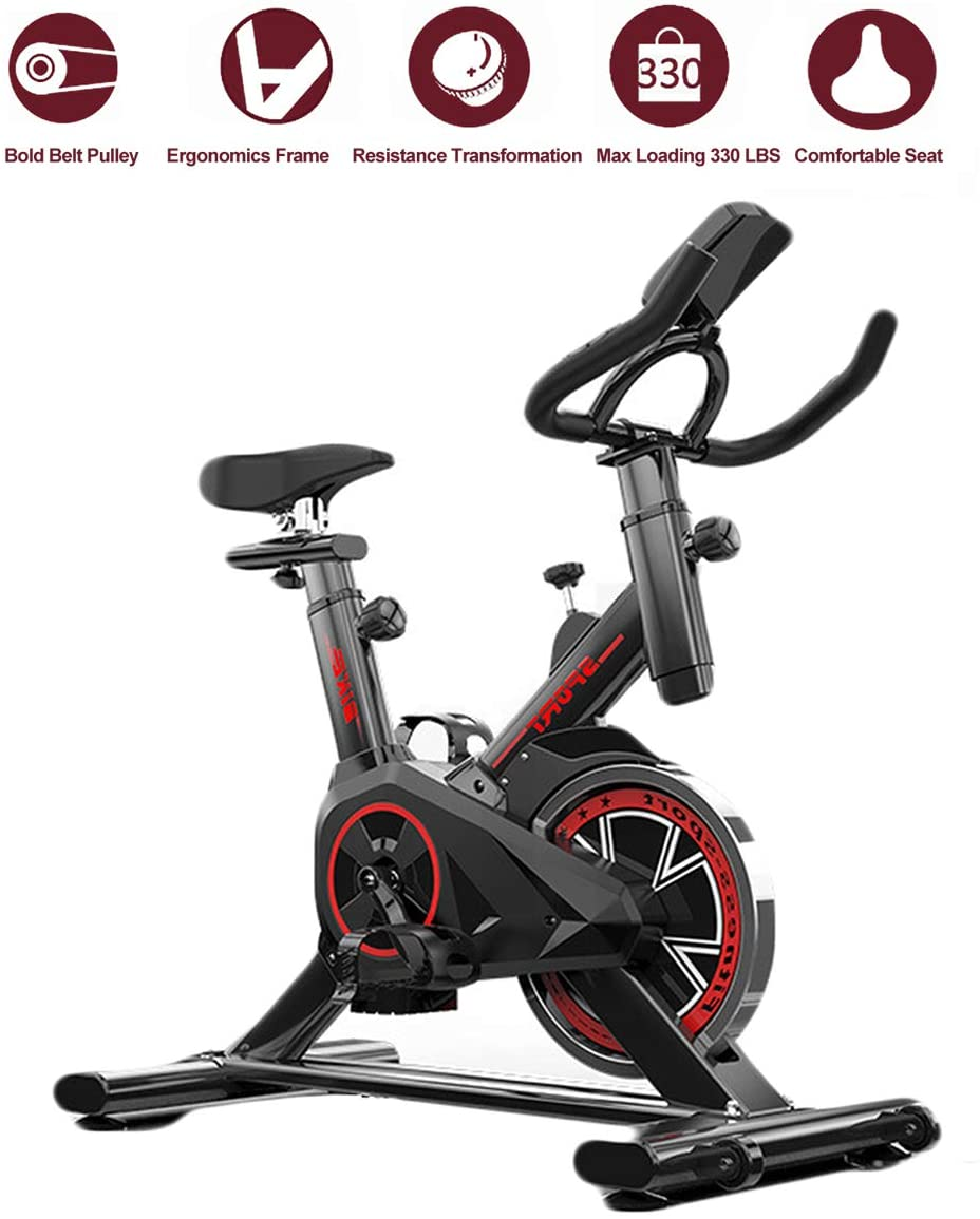Dann Indoor Cycling Bike Exercise Bike Stationary Bike for Home Cardio Gym Workout Spinning with Digital Monitor and 15 LB Flywheel